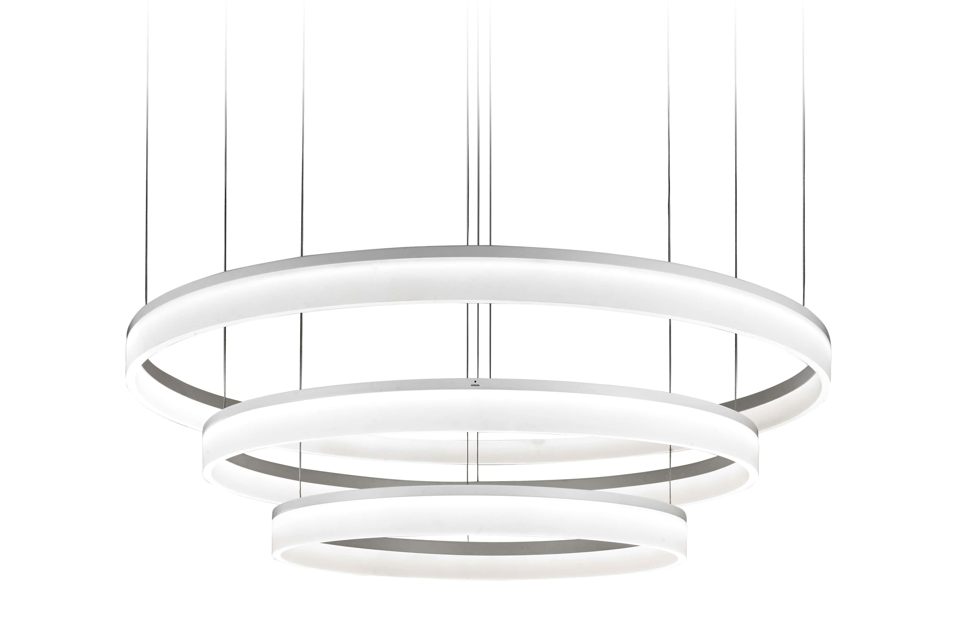 circular led 3 ring ceiling light 1000mm 89w