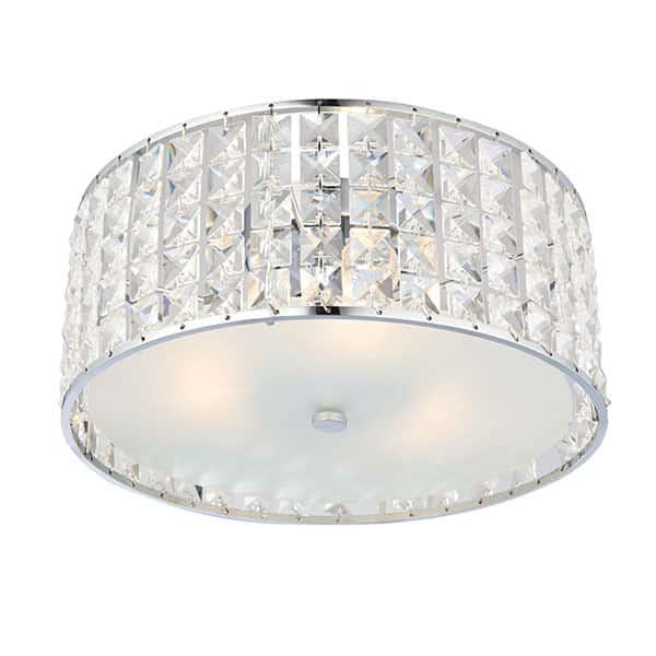 Crystal flush ceiling bathroom lighting tlw the lightworks crystal flush ceiling light 300mm aloadofball Images