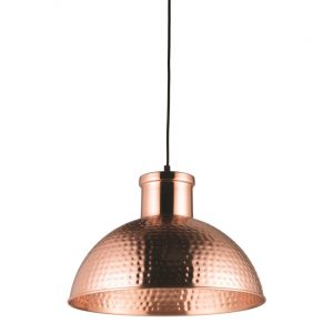 hammered effect pendant light