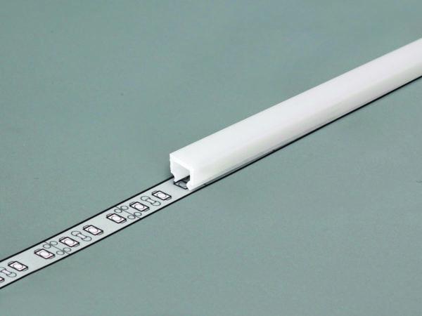 LED tape in aluminium profile to produce continuous lighting
