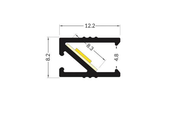 EDGE Aluminium Profile - 2m