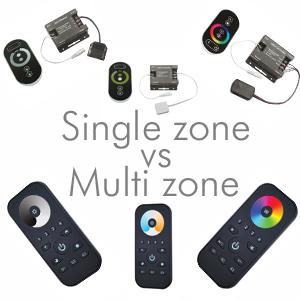 Single zone vs multi zone lighting control