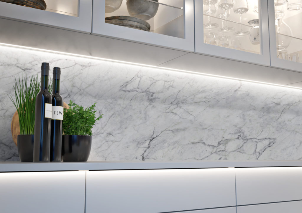 Modern kitchen from TLW with VEW lighting